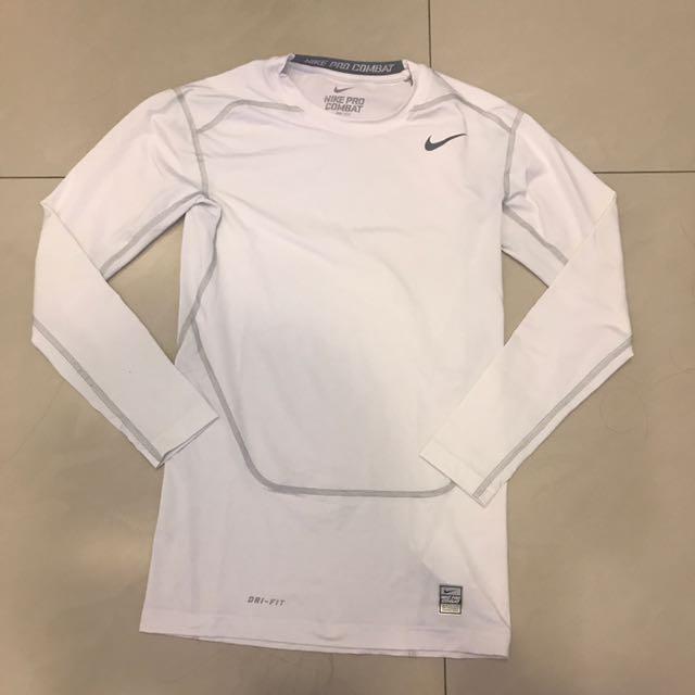 Nike Pro Combat 白色機能衣