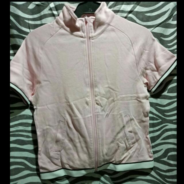Pastel Pink Zip Shirt