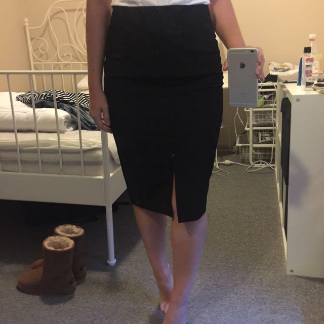 Portmans Office Skirt With Front Slit