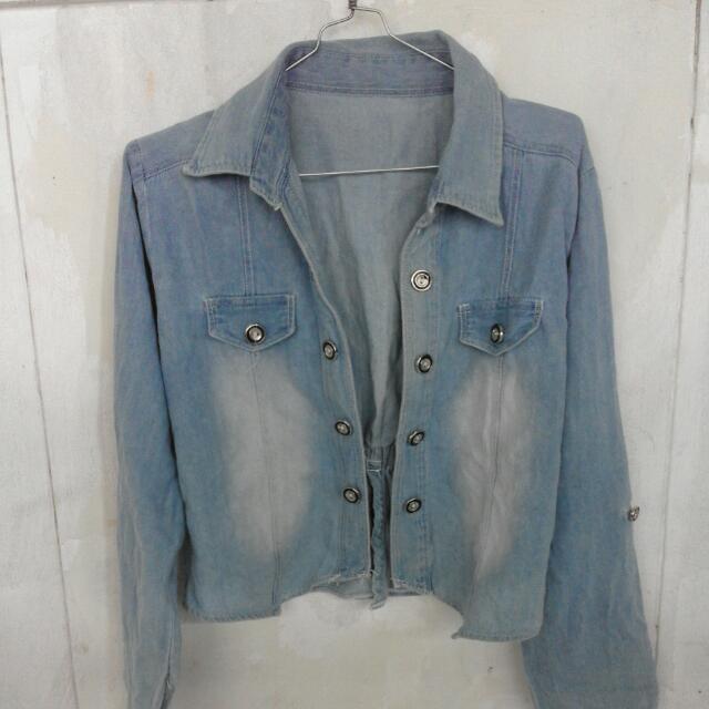 Preloved Blazer/ Outer Denim Washed Blue.