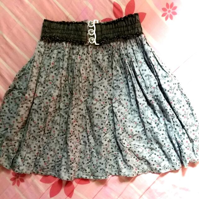 REPRICE!! Flower Mini Skirt