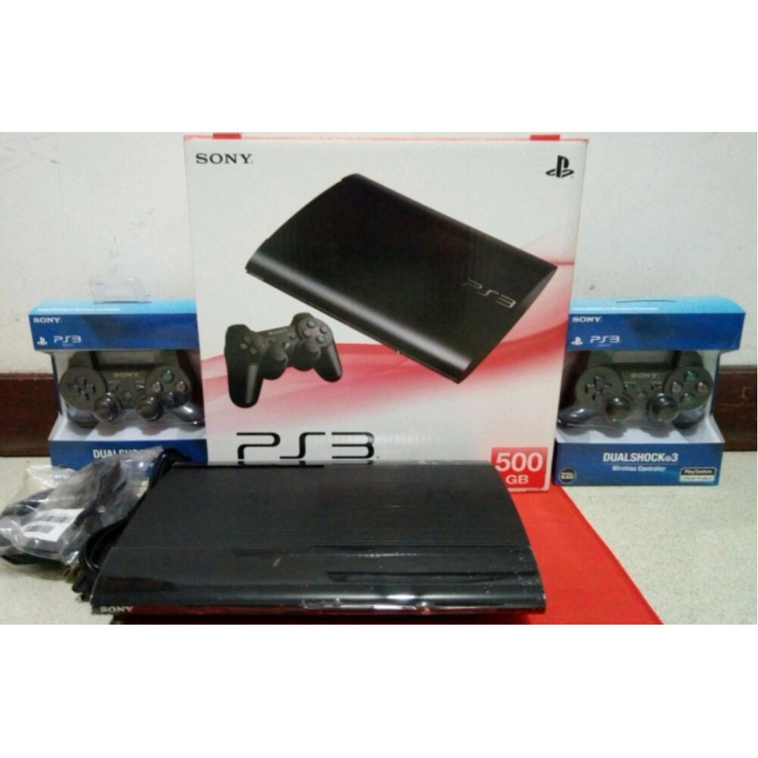 Ps3 Ss Ofw Superslim Super Slim 500gb Full Game Cfw 2 Stick Daftar  Cuci Gudang Video