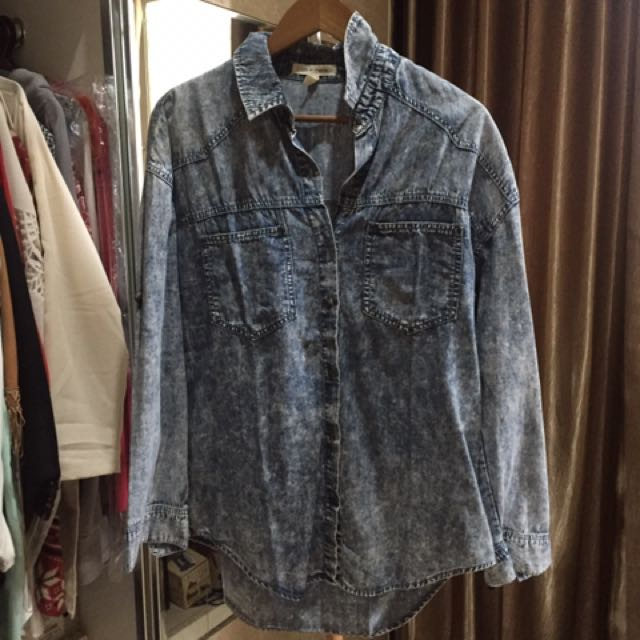 Pull And Bear (life In Proggress Brand) Washed Blouse