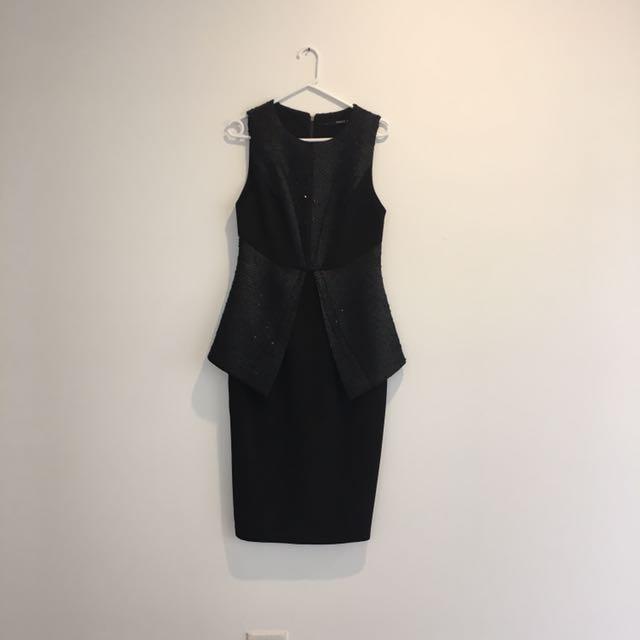 Seduce Black Cocktail Dress