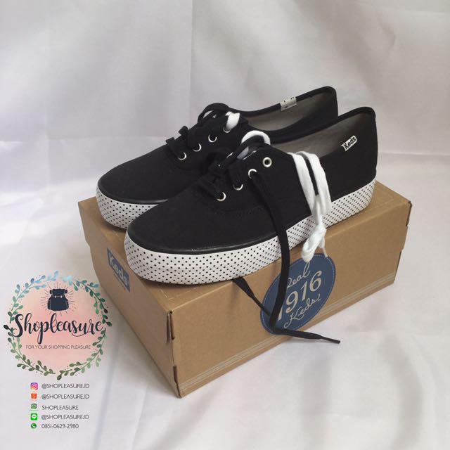 Sepatu Keds Shoes Triple Foxing Black Dots  Original Ori Asli Authentic 100%