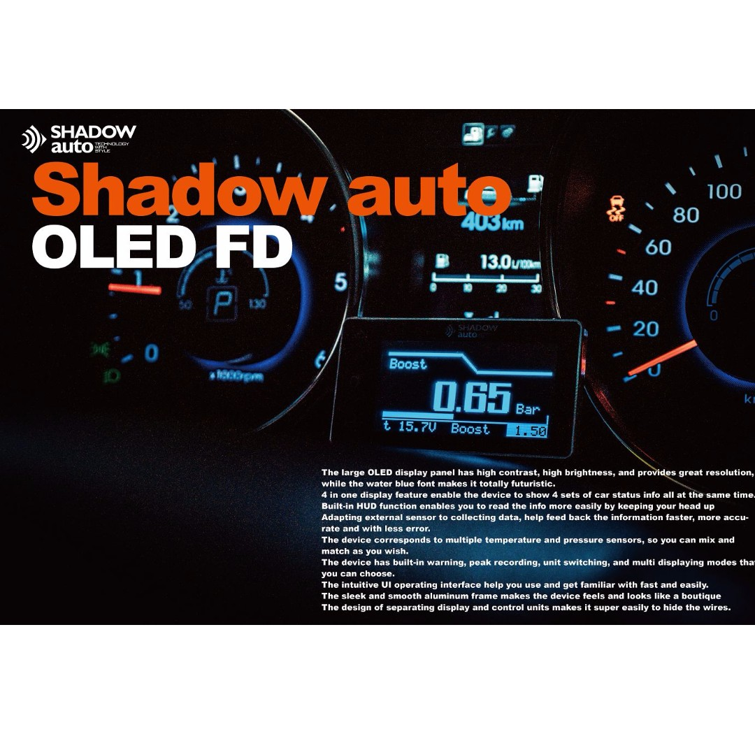 SHADOW Auto OLED FD Multi Function Display Car Accessories On Carousell - Auto display