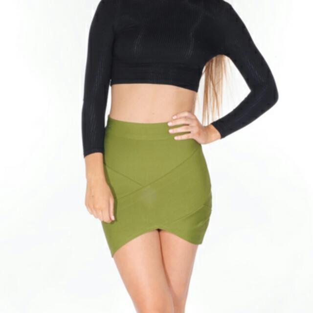 Size 8 Khaki Bandage Skirt