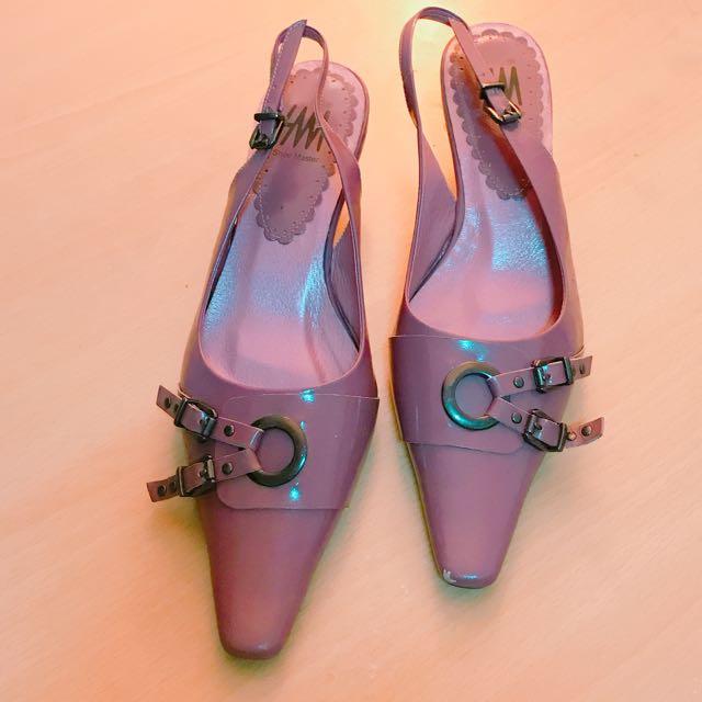 專櫃sm紫色矮跟女鞋