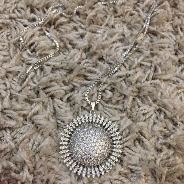 Sparkling Long Silver Necklace