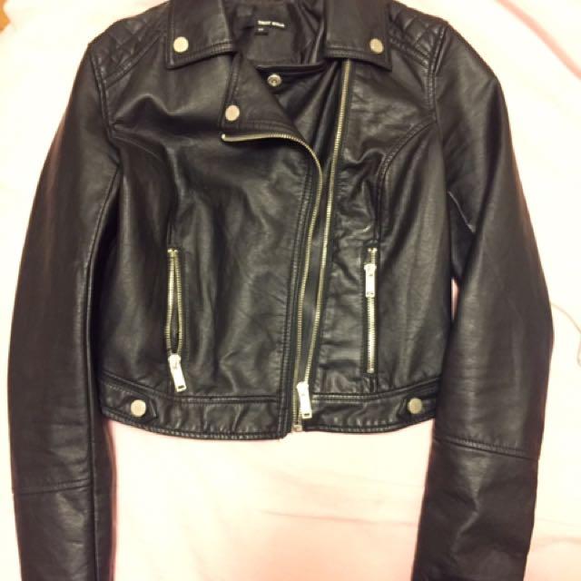 Tally Weijl Faux Biker Leather Jacket