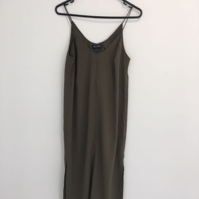 The Fifth Olive Green Dress
