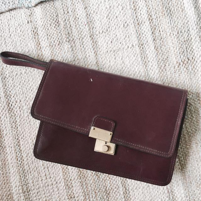 Vintage Lather Clutch Bag