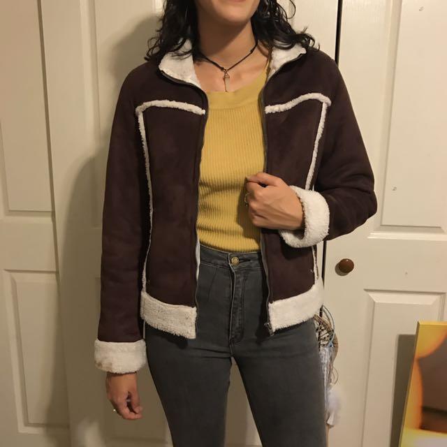 Vintage Suede Ripcurl Jacket