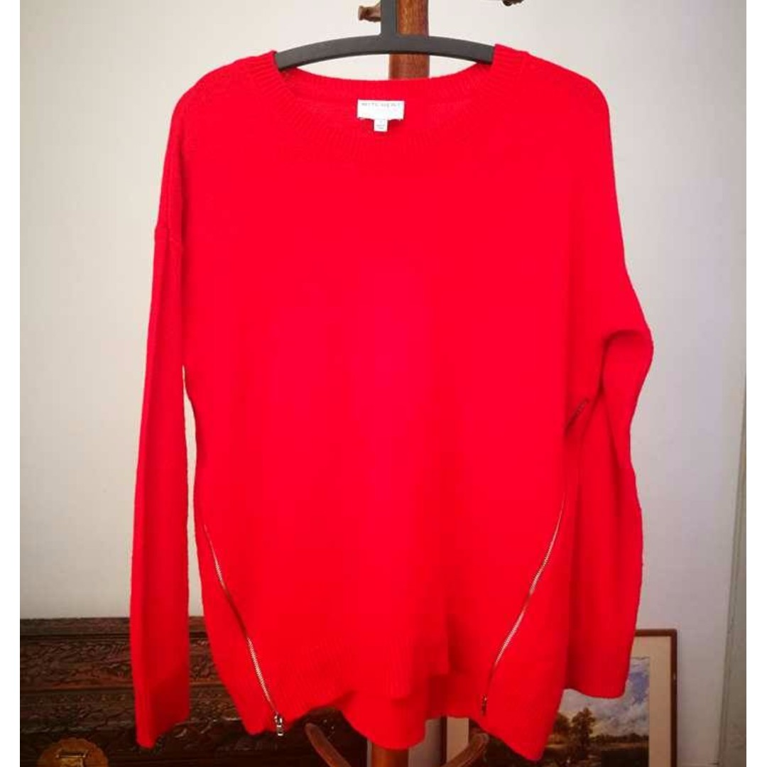 WITCHERY Red Knit Jumper