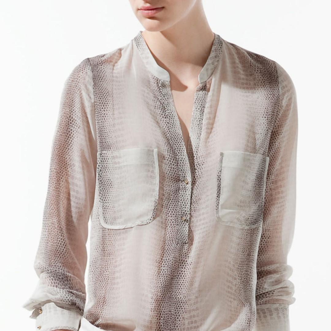 Zara Snake Print Blouse (S)