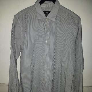 (XS) Cotton On - Pinstriped Long Sleeved Button Down Shirt