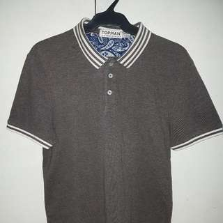 (M) Topman - Pique Polo Shirt Size Medium