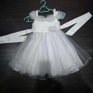 White Flower Girl Dress