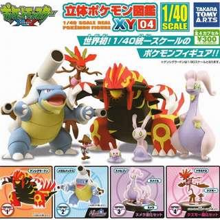 takara Pokemon 寵物小精靈 立體圖鑑 XY 04 全套 full set