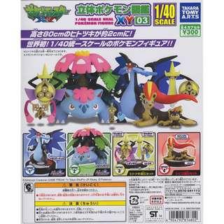 takara Pokemon 寵物小精靈 立體圖鑑 XY 03 全套 full set