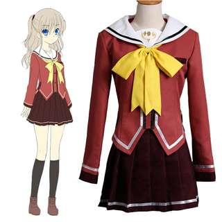 Charlotte Tomori Nao Students Uniform Cosplay