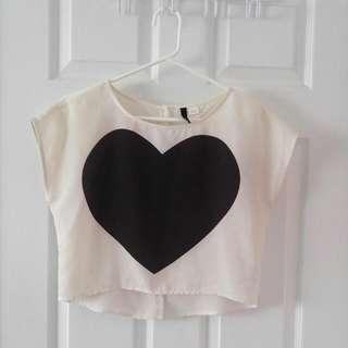 H&M Satin Crop Top