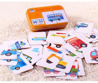 mainan puzzle anak motif rumah tangga, buah, kendaraan - ahm071