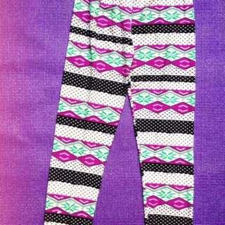 Bright & Colorful Leggings/Purple Printed Casual Leggings