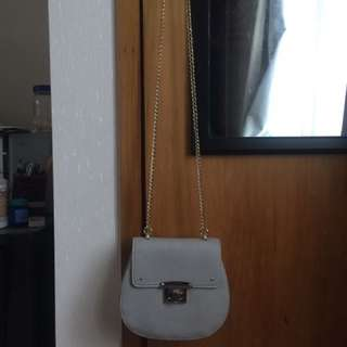 Forever New Grey Leather Handbag