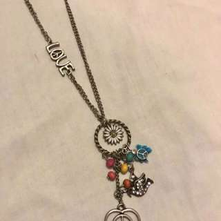 Good Vibes Peace And Love Necklace
