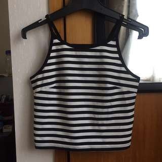Glassons Strip Crop Top