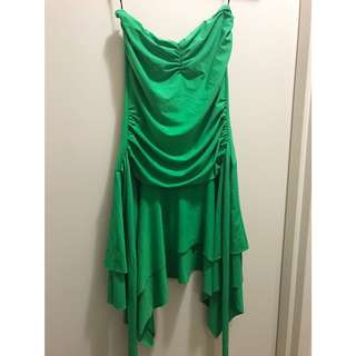 Strapless Green Party Dress
