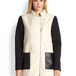 Tibi New York  Fencing Mixed Media Coat