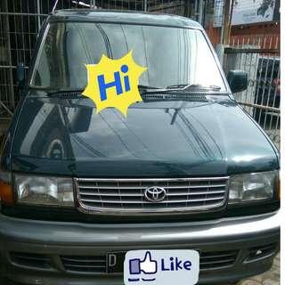 Mobil Kijang Krista tahun 1999 mulus masih ori setelan pabrik.