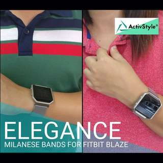 Now available-Milanese bands for your Fitbit Blaze, secured with a strong magnetic lock.   Price: 1100 (strap only)  1500 (strap and frame set)