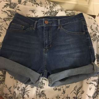 Topshop High Rise Shorts Size 28