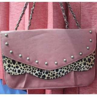 Pink Leophard Bag