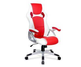 Racing Office Chair White Red
