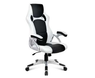Racing Office Chair Black White