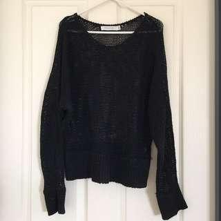 Black MinkPink Knit Jumper