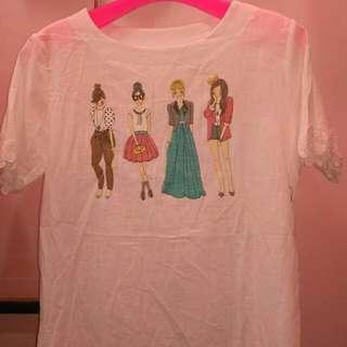 White Girls Shirt Edisi Cuci Gudang