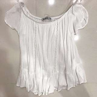 COTTON ON WHITE OFF SHOULDER TOP