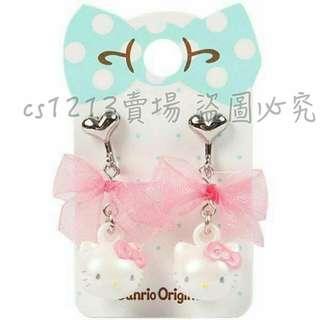 隨匯率降💰5/15收單 日本 Hello kitty 夾式耳環《一組2入.粉.大臉.蝴蝶結