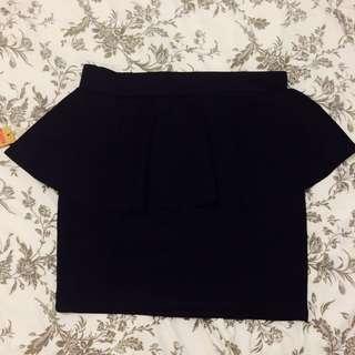 BNWT Black Peplum Skirt