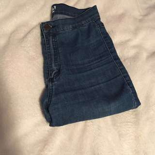 high waisted roller jeans