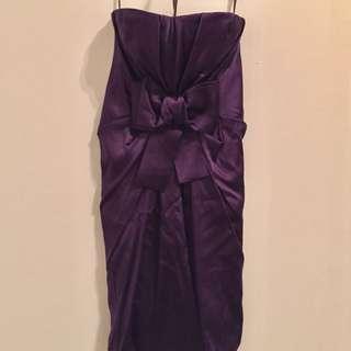 BCBG Strapless Purple Dress