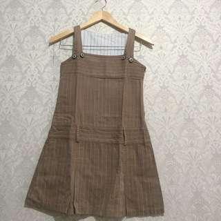 Stripes Mini Nevada Dress / Gaun Casual Baju Terusan Overall