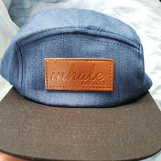 Inhale Cap, Leather Strap Back, One size Fits All