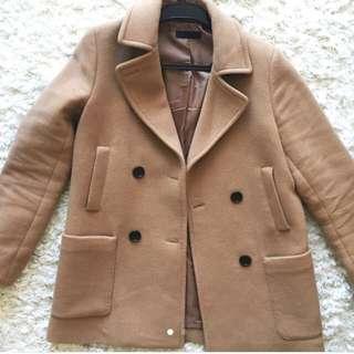 Uniqlo Tan Wool Coat