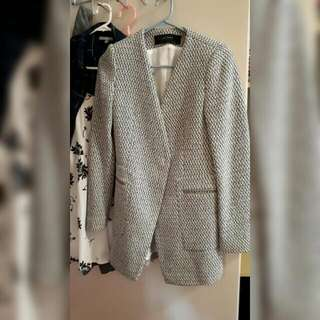 Zara Basic Collection Grey / White Coat